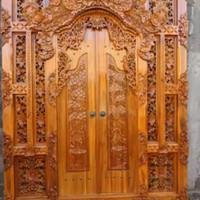 pintu rumah gebyok kayu jati 2