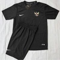 JERSEY bola Baju stelan timnas indonesia olahraga bola futsal - Hitam, L