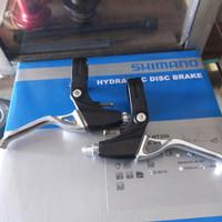 brake lever/handle rem sepeda full alloy hitam silver