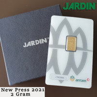 Emas Batangan 2 Gram - Antam - Reinvented/New Press  LM/Logam Mulia 