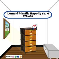 Lemari laci plastik Napolly STB 400 susun 4