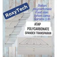 Atap Polycarbonate / Spandex Transparan RoxyTech panjang 3 m