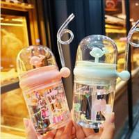 Botol Minum Anak Sedotan Air Mancur BPA Free Karakter Lumba Lumba