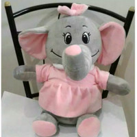 Boneka Gajah Bona Lucu Cantik Baju Jumbo