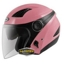 HELM ZEUS ZS610 PINK GLOSSY ZS 610 ZS-610 Half face Double visor