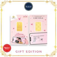 Emas Mungil (gift edition) - Logam Mulia LM Happy Anniversary 2,5 gram