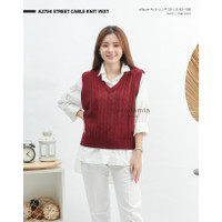A2794 STREET CABLE KNIT VEST - MACADAMIA HOUSE