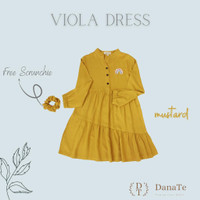 Dress Anak Lengan Panjang Danate Viola Dress Anak Rayon Twill