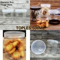 TOPLES PLASTIK 500ML - TOPLES TABUNG - TOPLES KUE SNACK - TOPLES JAR