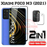 Tempered Glass Xiaomi POCO M3 (2021) Pelindung Layar & Kamera Belakang