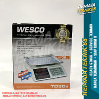 TIMBANGAN DOUBLE DISPLAY / MAKSIMUM 30 KG / WESCO TD 30 E
