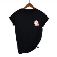 Baju Kaos Wanita Gambar Kucing KeongPremium - Daily Tees -Oblongwanita