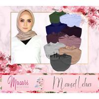 Manset Leher Daleman Hijab / Penutup Leher / Inner Baju