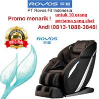 Kursi Pijat / Massage Chair ROVOS R662L Brown Black ORIGINAL