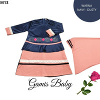 Gamis Baby Cute Perempuan Set Hijab | Baju Gamis Bayi Cantik Set Hijab