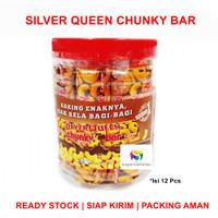 Silver Queen Chunky Bar JAR / TOPLES (isi 12 pcs) Cokelat Valentine