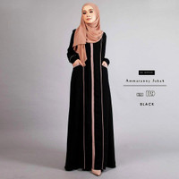 abaya hitam gamis arab pakistan india daster jettblack kaftan syar i
