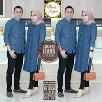 Couple Atasan Jeans 2 warna (Kemeja + Tunik
