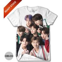 Baju BTS Anak Perempuan Wanita Kaos BTS Dewasa #REG-460 - No.1 (1-2 thn)