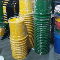 Tempat Tong Sampah Fiberglass Bulat 50liter TERMURAH TERLARIS