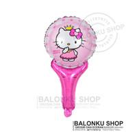 Balon Foil Tongkat Hello Kitty / Balon Pentung Hello Kitty