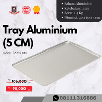 Loyang Aluminium / Tray Aluminium 60x40x5 cm
