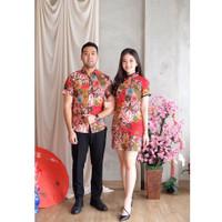 Shanghai Inspired Couple Cheongsam Dress + Kemeja CNY Lunar - 5678 LBH