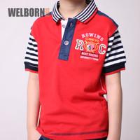 Welborn Kids Polo Shirt Red Rowing Anak Laki