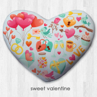 Bantal Dekorasi bentuk hati / kado valentine - Sweet Valentine - S
