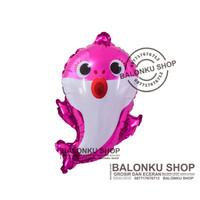 Balon Baby Shark Pink / Balon Foil Baby Shark / Balon Baby Shark