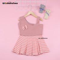 Dress Kimmy uk 1-2 Tahun / Dres Anak Perempuan Baju Cewek Adem Lengan