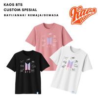 Baju Kaos kpop bts Tanda Tangan Untuk Bayi Anak dan Dewasa Kaos Nama
