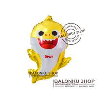 Balon Baby Shark Kuning / Balon Foil Baby Shark / Balon Baby Shark
