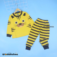 Piyama Tiger Anak Laki Size 1-8 Tahun / EXPORT Quality Baju Tidur