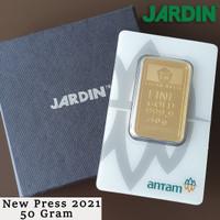 Emas Batangan 50 Gram - Antam - Reinvented/New Press |LM/Logam Mulia|