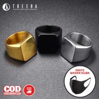Share: 0 Cincin Titanium Pria Premium Stainless Steel Keren