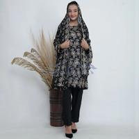 Baju Kurung Sari India Spesial Hitam