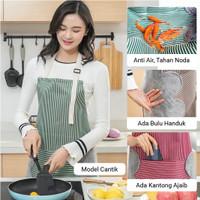 Apron masak celemek masak anti air kain handuk waterproof