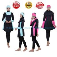 Baju Renang Muslim Dewasa (RMD 06) - M, KOMBINSI PINK