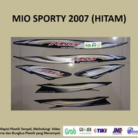 Mio Sporty 2007 Hitam Motor Yamaha Stiker Striping Stripping Sticker