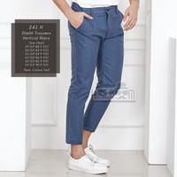 HISROOM - Celana Trousers Slimfit Ankle Pants Chino Tartan Celana Pria