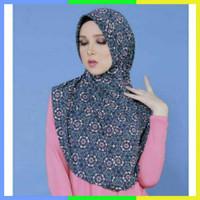 Jilbab Bergo Zoya Husna Turkish Kerudung Motif Hijab Instan Simple