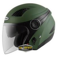 HELM ZEUS ZS610 MATT ARMY ZS 610 ZS-610 Half face Double visor