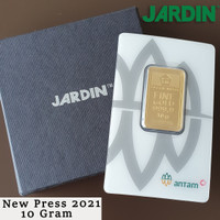 Emas Batangan 10 Gram - Antam - Reinvented/New Press  LM/Logam Mulia 