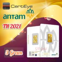 Logam Mulia 3g/3 gr/3gram/3 gram/Emas Antam/Certicard/Certieye - 2020