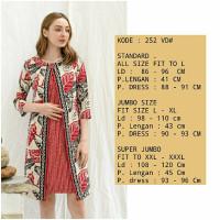 jumbo batik dress edisi imlek big size