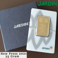 Emas Batangan 25 Gram - Antam - Reinvented/New Press |LM/Logam Mulia|