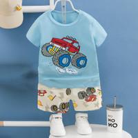 Baju santai/ baju rumah/ setelan import anak laki. brand melody - NPB 5, 55