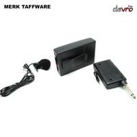 Microphone Clip Wireless FM Transmitter dgn Receiver - Taffware WR-601