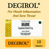 Degirol - Tablet Hisap - Strip 10 tablet